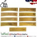 ใบกดเฟรตทองเหลือง USA Luthier Tools Set9