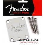 เพลทยึดคอกีตาร์ Fender® American Series Chrome
