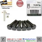 หมุดกีต้าร์โปร่ง Graph Tech TUSQ Traditional Style Black PP-2100-01