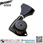 ลูกบิดล็อคสาย Hipshot® 6Inline Grip-Lock™ Black
