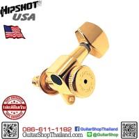 ลูกบิดล็อคสาย Hipshot® 6Inline Grip-Lock™ Mini Gold