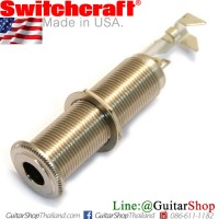 แจ็คหลอด Switchcraft® 3Pole Barrel Stereo Nickel